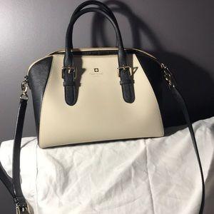 Kate Spade Bowling Bag Off-White & Black